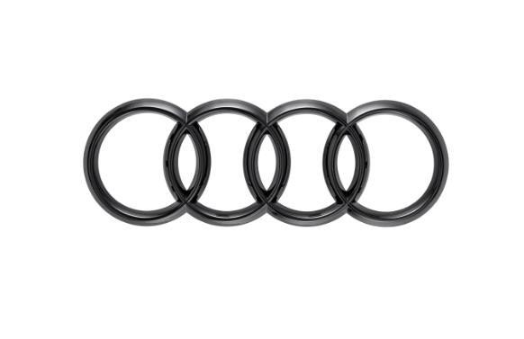 Audi Ringe in Schwarz für Front Kühlergrill A8 S8 Q2 Q8