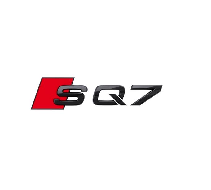 Audi Modellbezeichnung in Schwarz Front SQ7