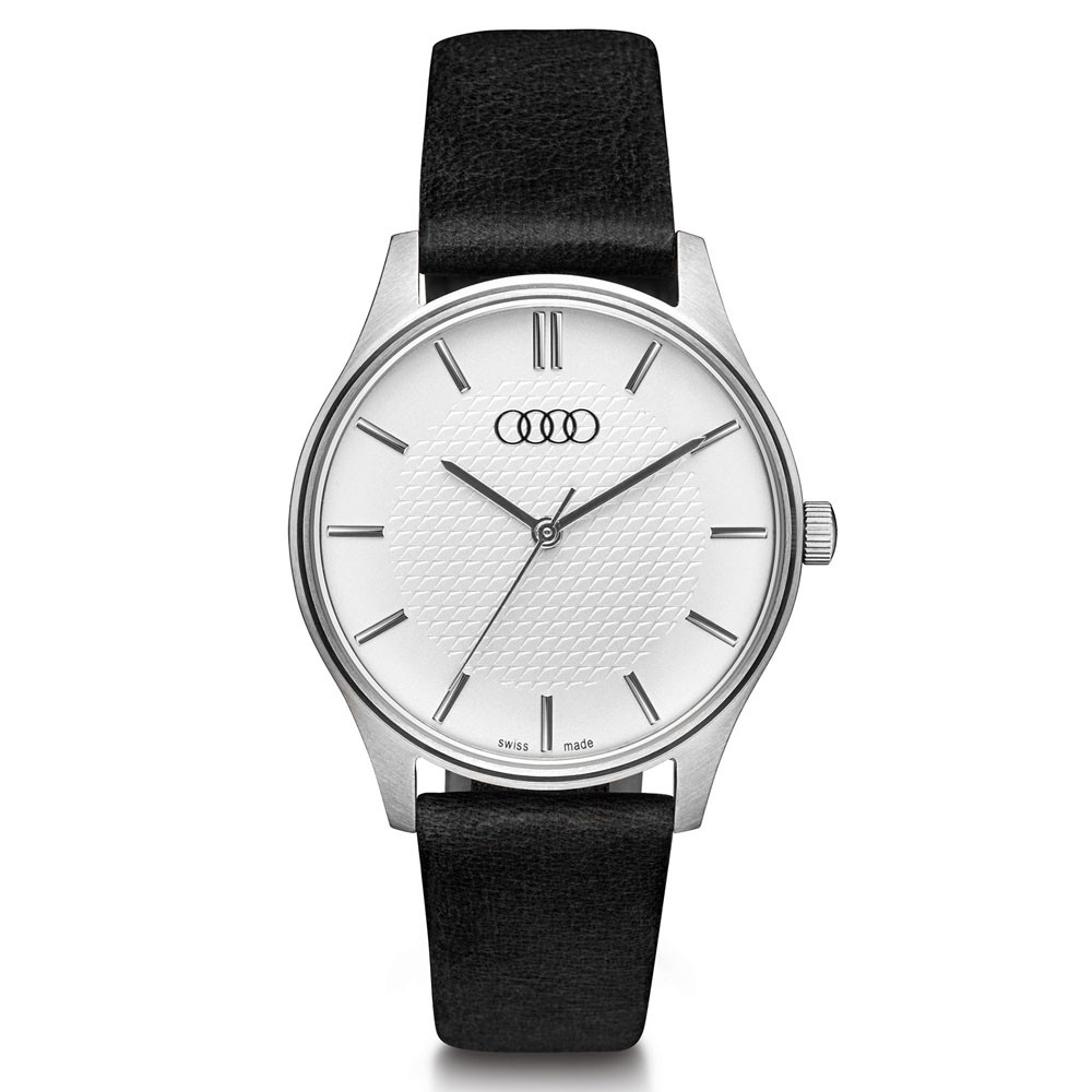 Audi Uhr Damen silber/schwarz Armbanduhr