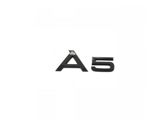 Audi Modellbezeichnung in Schwarz Heck A5
