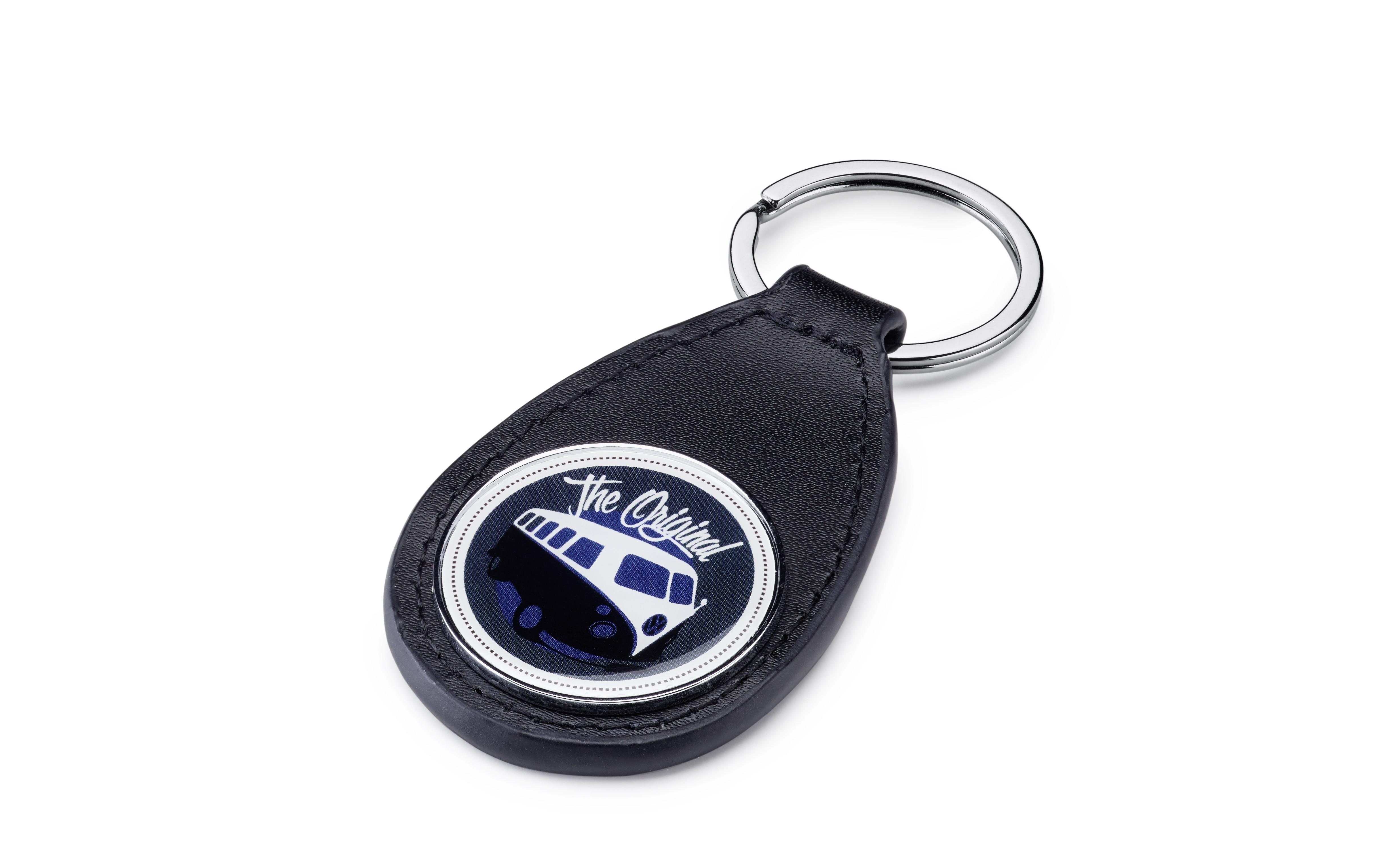 Volkswagen Bulli T1 Schlüsselanhänger Leder / Metall