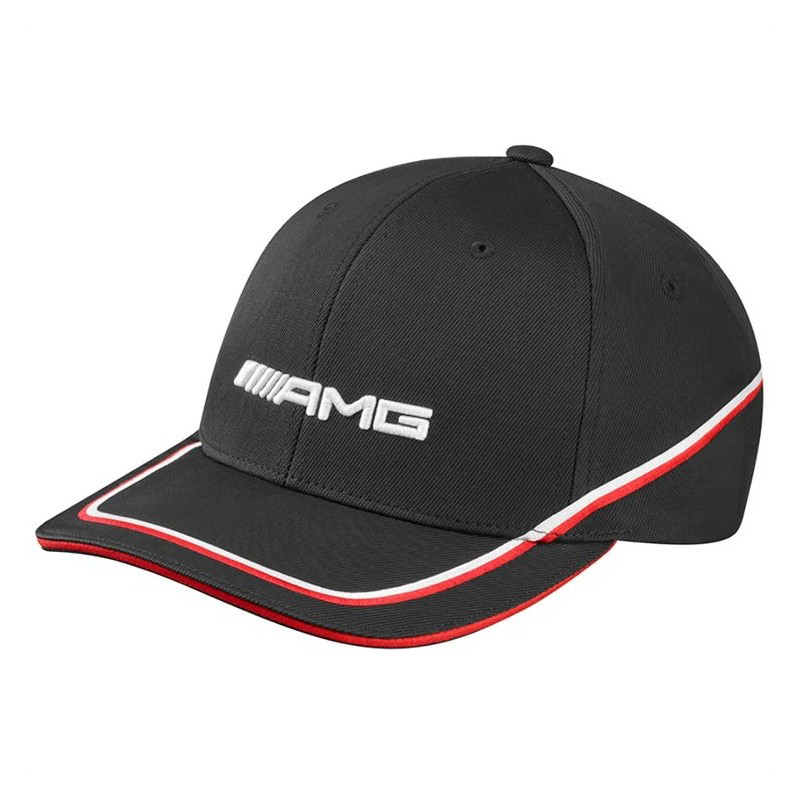 Mercedes-AMG Kappe polyacryl schwarz / rot