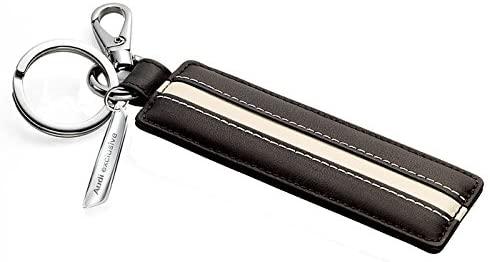 Audi exclusive Schlüsselanhänger schwarz/alabaster