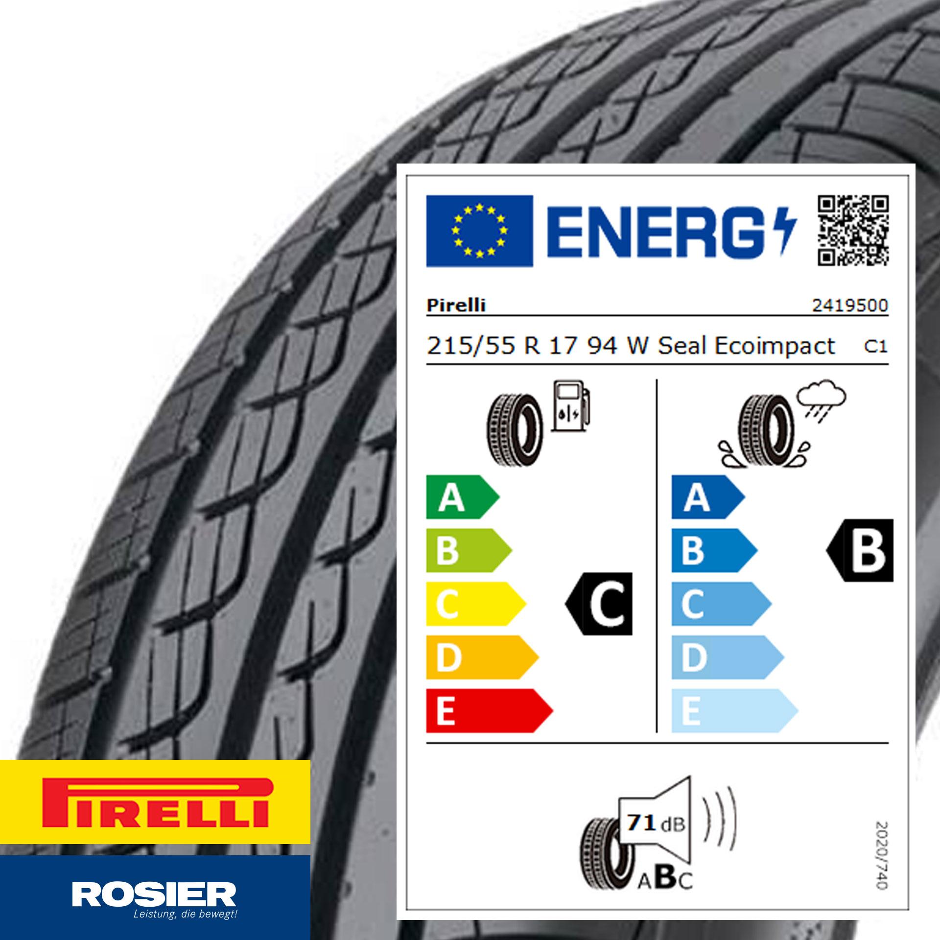 215/55 R17 94W Pirelli Cinturato P7 Seal - Sommerreifen