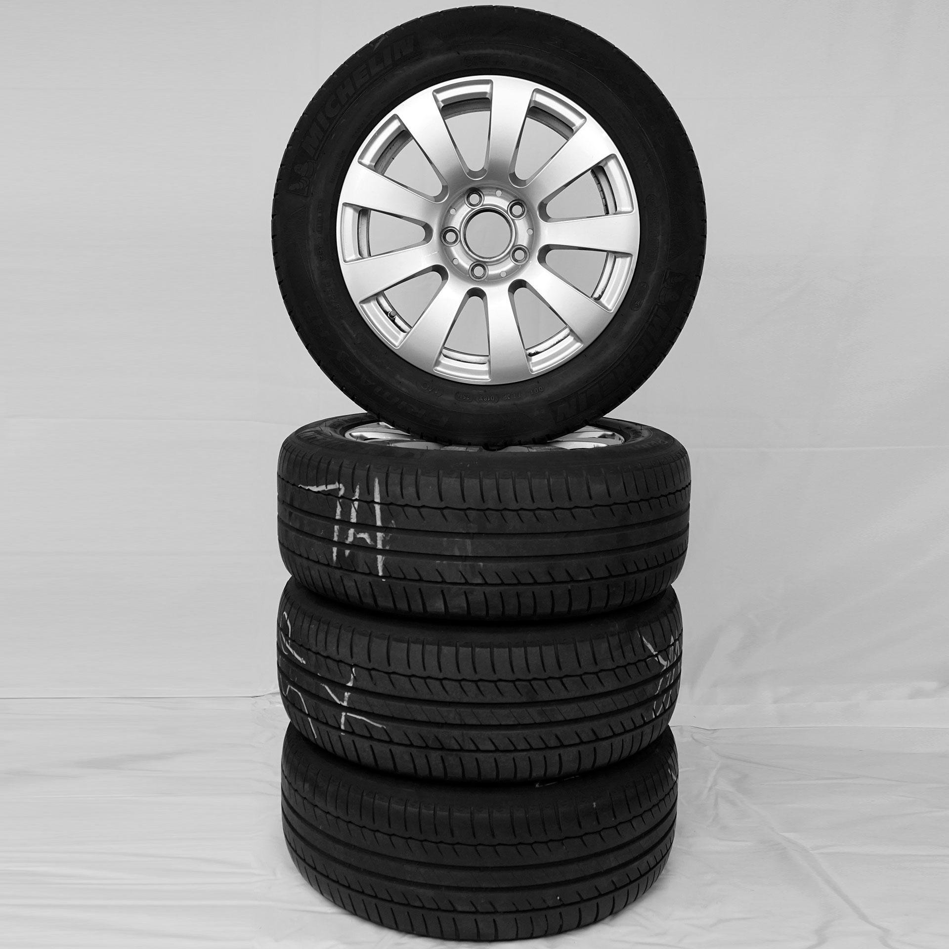 C-Klasse (205) Gebrauchter 16 Zoll Original Mercedes-Benz Sommerkomplettrad-Satz Michelin