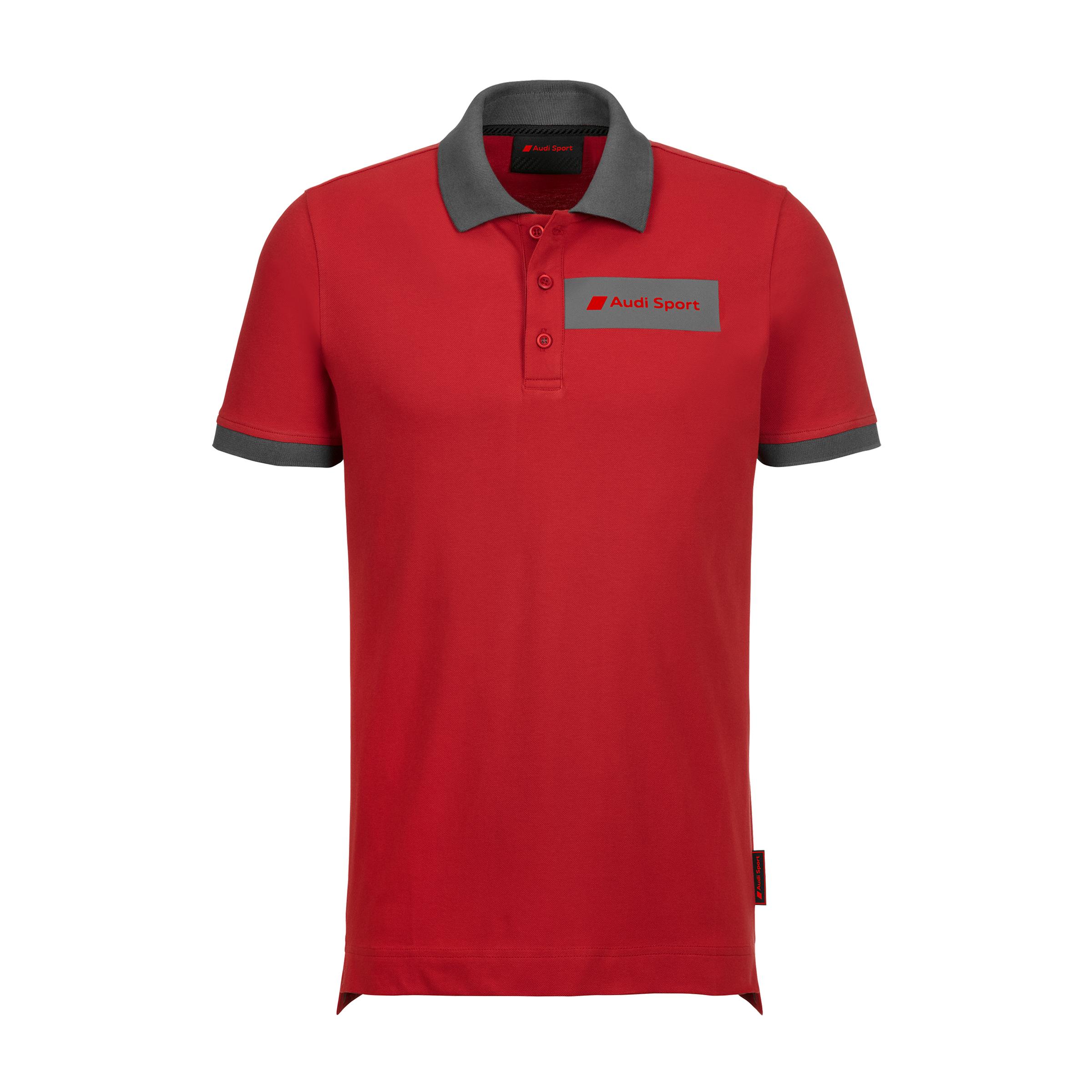 Audi Sport Poloshirt Herren Größe S rot