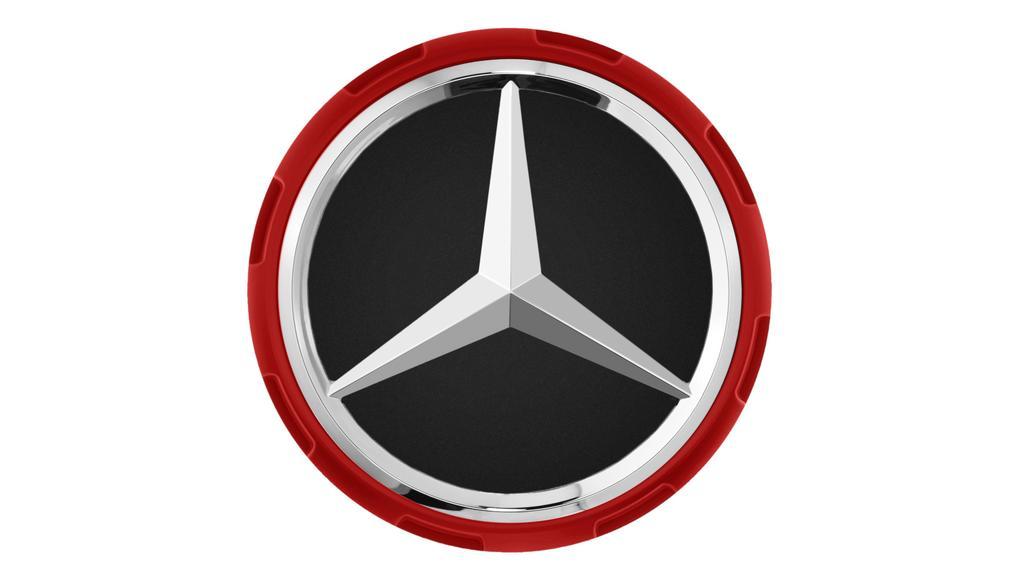 Mercedes-AMG Radnabenabdeckung Zentralverschlussdesign rot