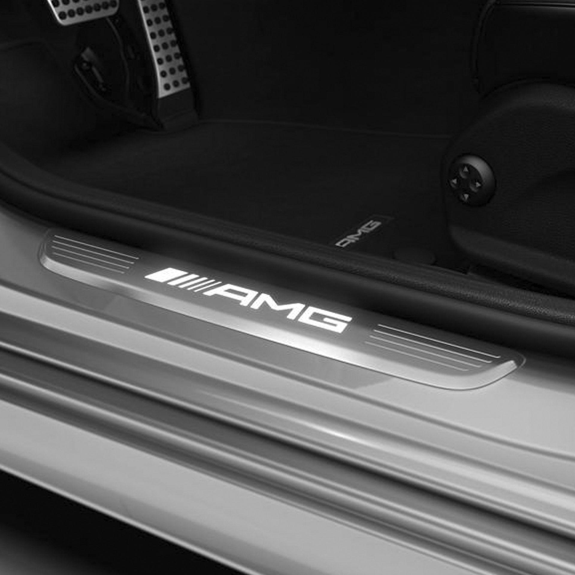 Mercedes-AMG Einstiegsleisten beleuchtet vorne Wechselcover 2-teilig A-Klasse CLA EQA GLA GLB