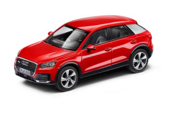 Audi Q2 Modellauto Tangorot 1:43