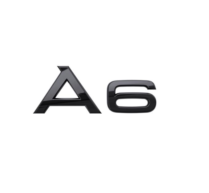 Audi Modellbezeichnung in Schwarz Heck A6