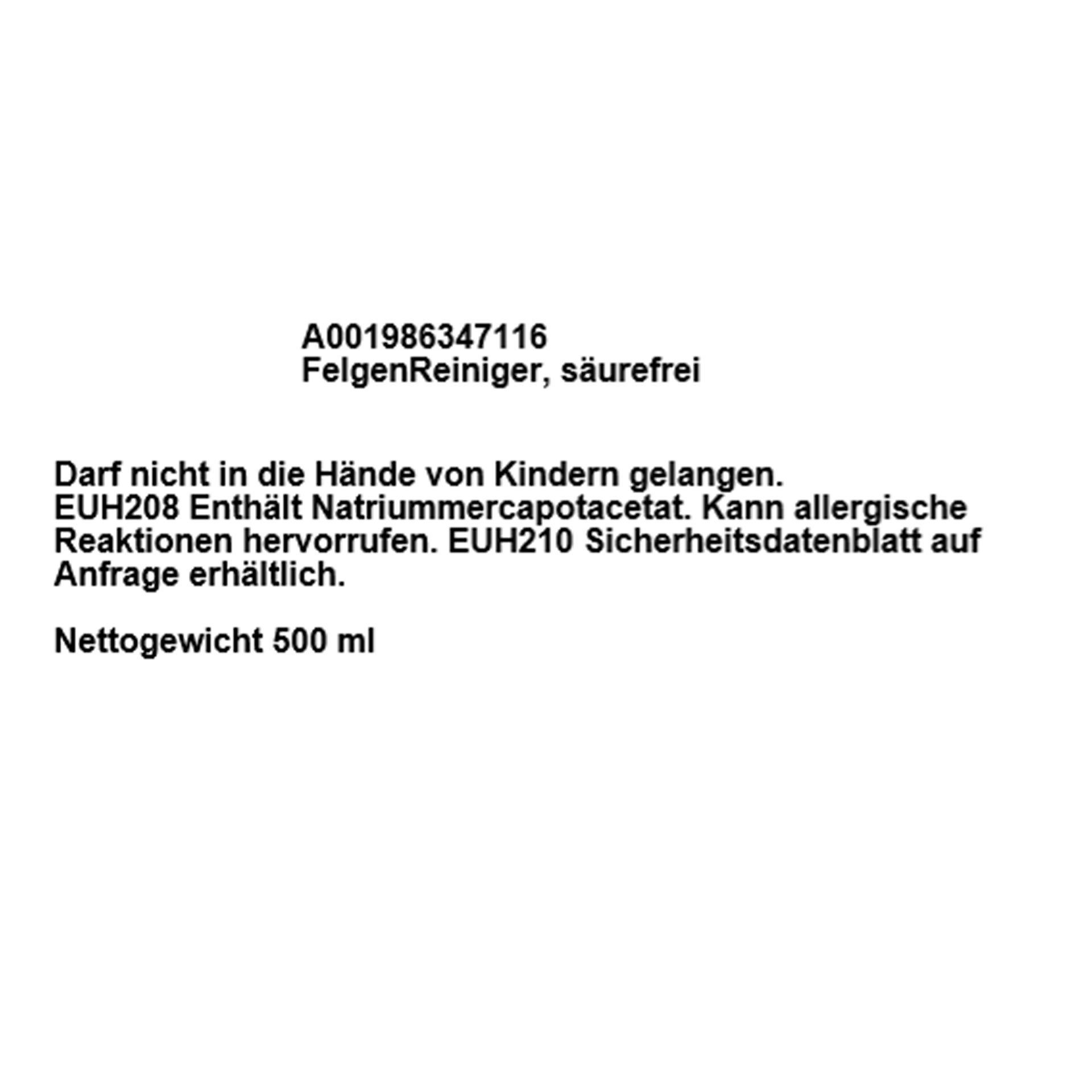 Mercedes-Benz Pflegekit Exterieur Autoshampoo FelgenReiniger Schwamm Handschuh