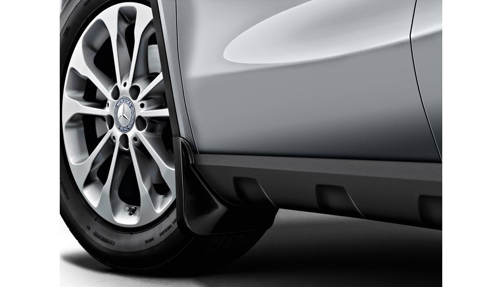 Mercedes-Benz Schmutzfänger GLA EQA Satz vorne schwarz