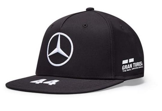 Petronas Hamilton Flat Brim Cap schwarz Original Mercedes-AMG Collection