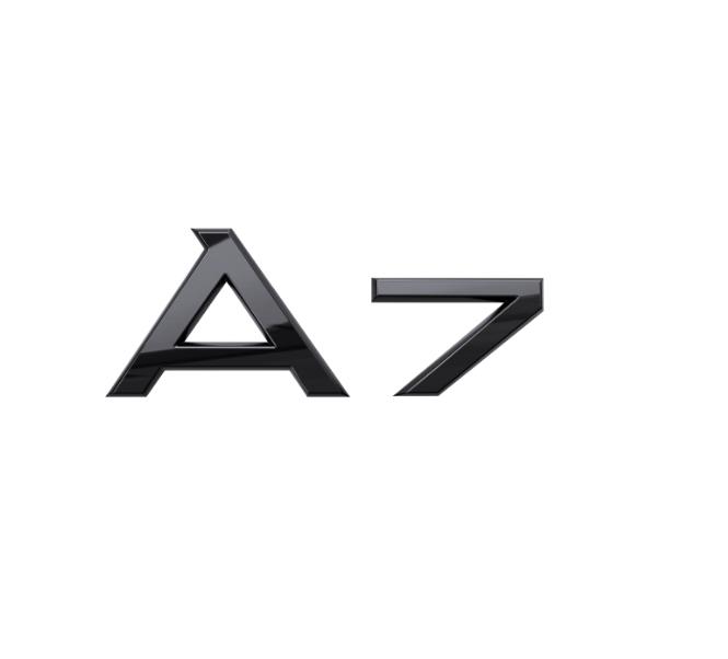 Audi Modellbezeichnung in Schwarz Heck A7