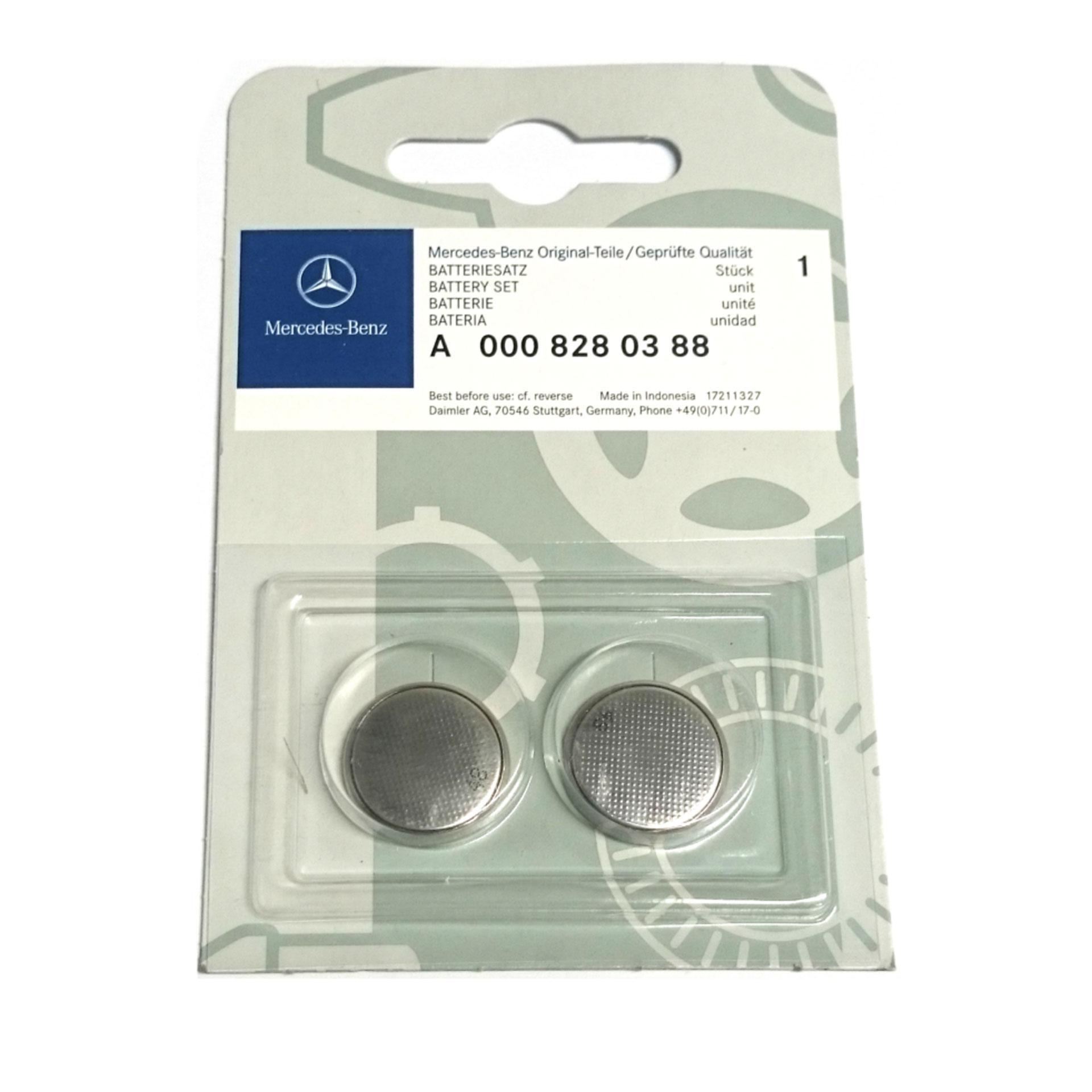 Mercedes-Benz Batteriesatz Schlüsselbatterie 2er Set 3V CR2025