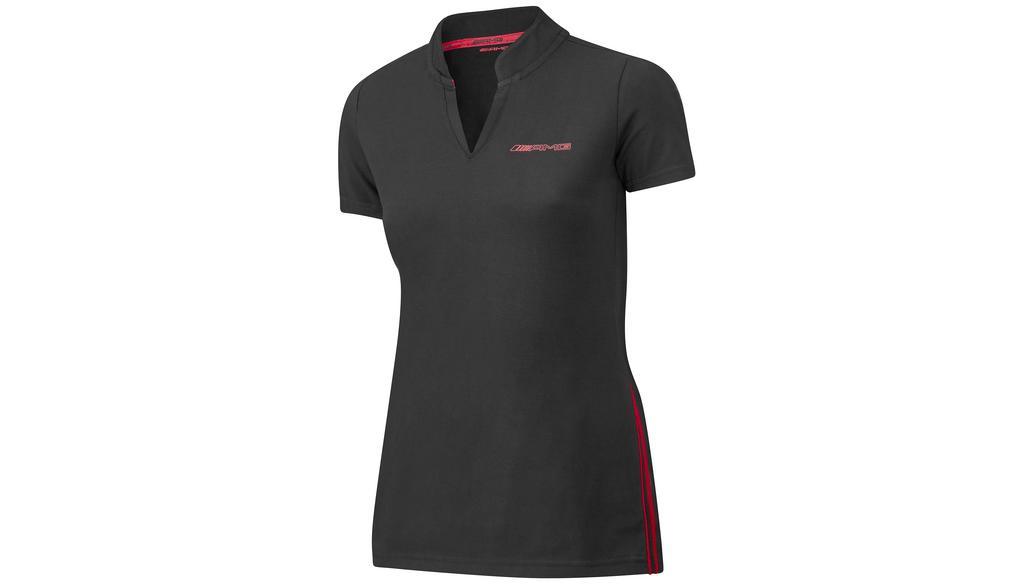 Mercedes-AMG Poloshirt Damen schwarz/rot - Größe M