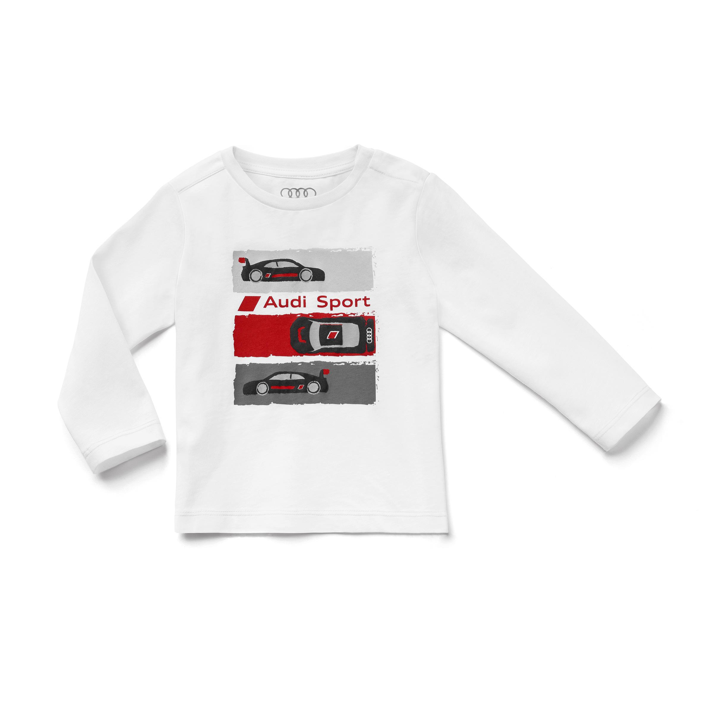 Audi Sport Kleinkind Shirt Langarm Größe 122/128 weiß Baumwolle