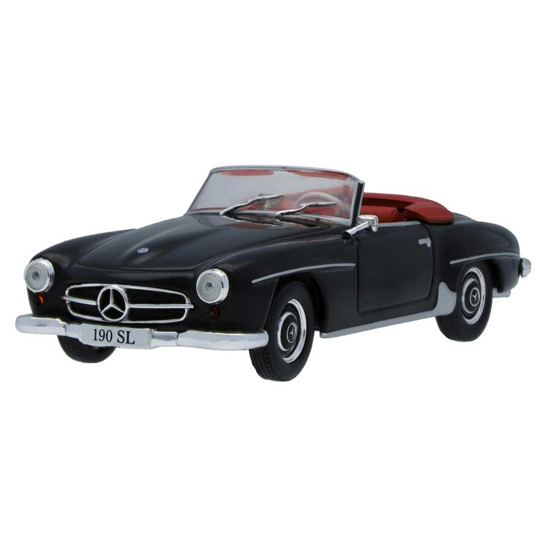Mercedes-Benz Modellauto 190 SL W 121 (1955-1963) schwarz 1:43
