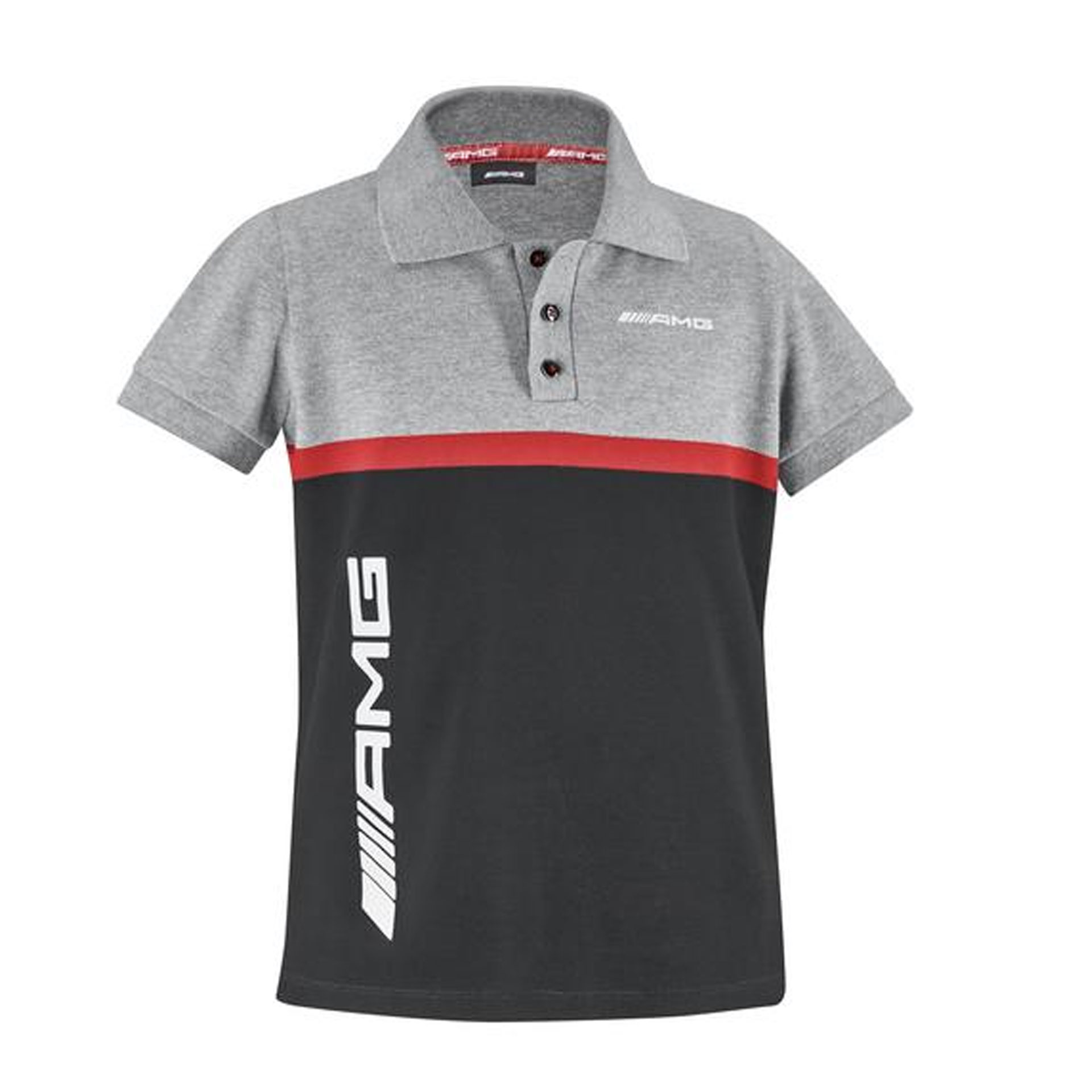 Mercedes-AMG Poloshirt Kinder grau schwarz rot