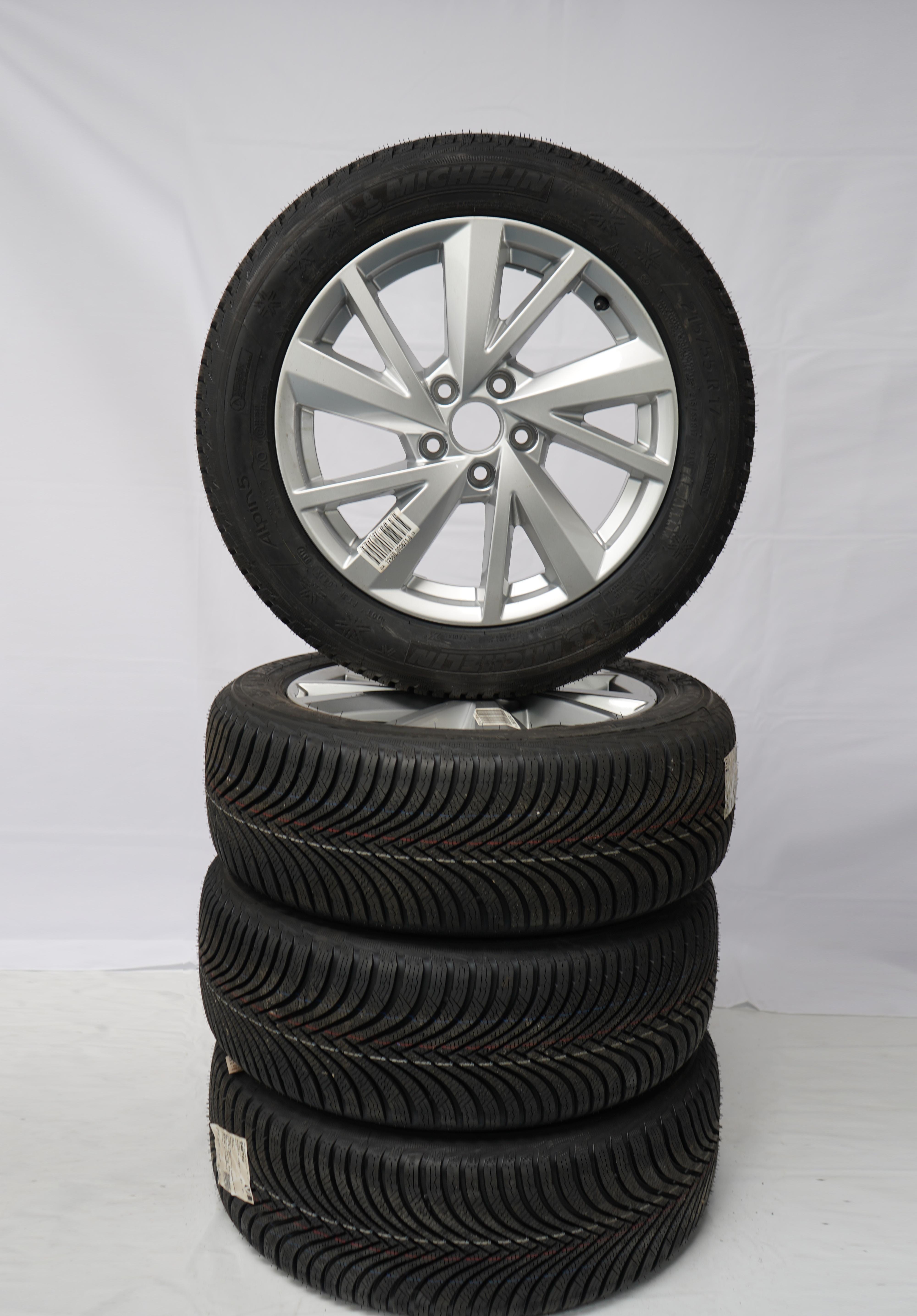 Q2 (GA) Gebrauchter 17 Zoll Original Audi Winterkomplettrad-Satz Michelin