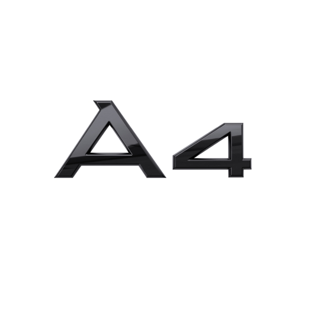 Audi Modellbezeichnung  in Schwarz Heck A4