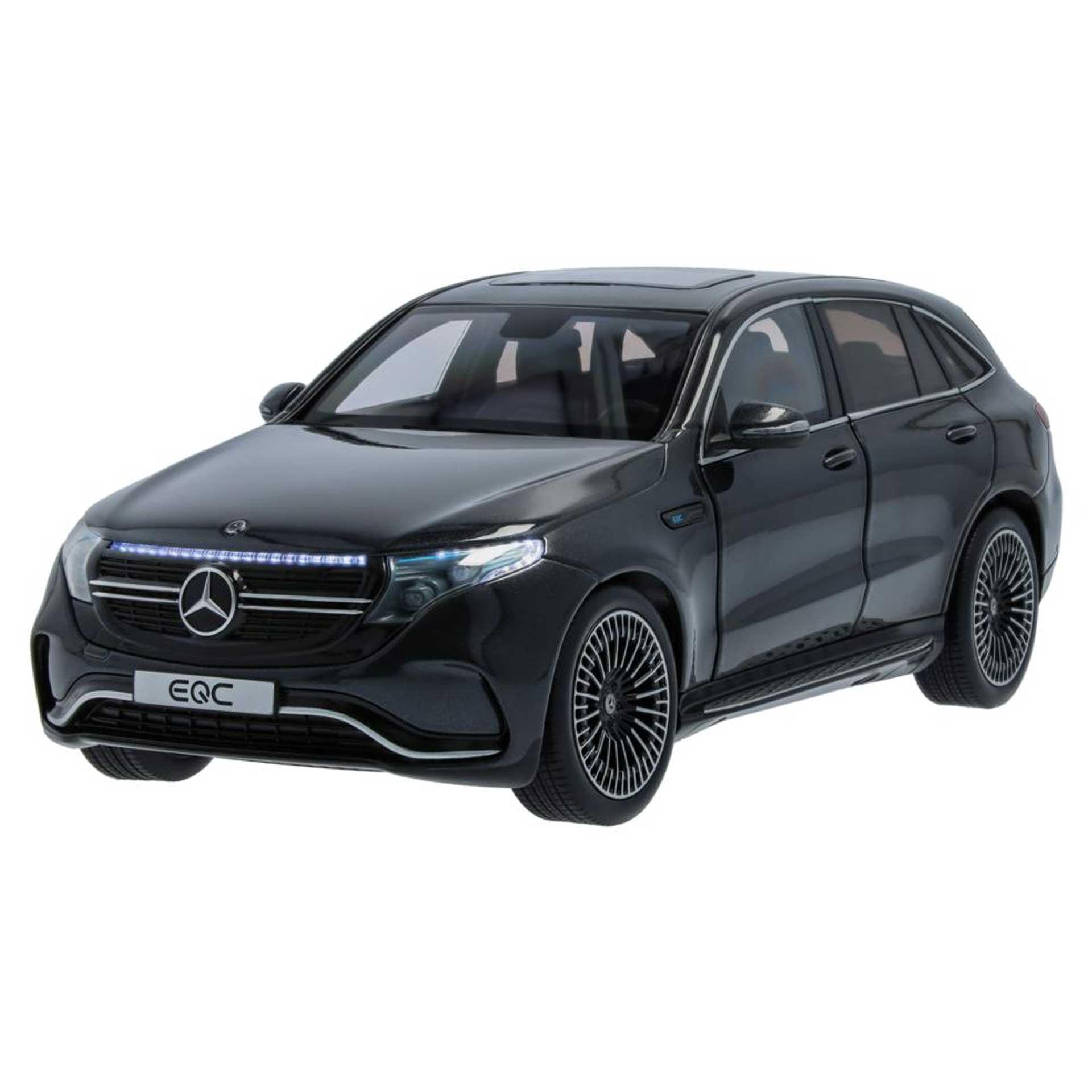 Mercedes-Benz Modellauto EQC mit Beleuchtung N293 1:18 graphitgrau