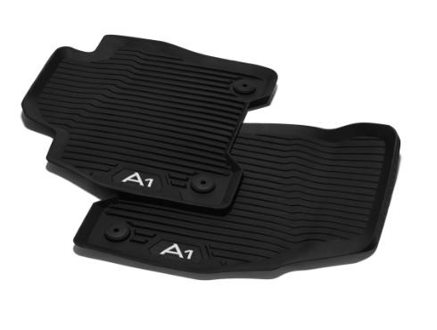 Audi Gummifußmatten vorne schwarz Audi A1 2 Stück