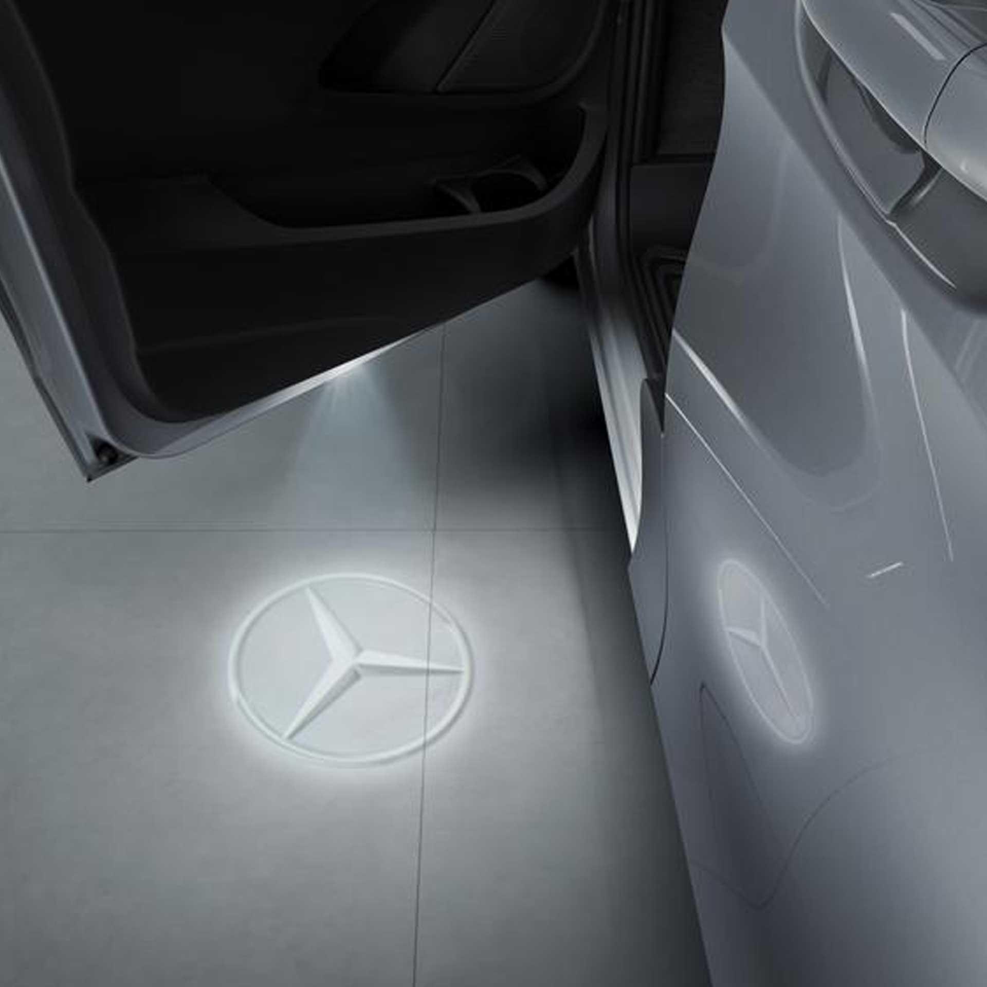 Mercedes-Benz Logo-Projektor für die Vordertüren Set