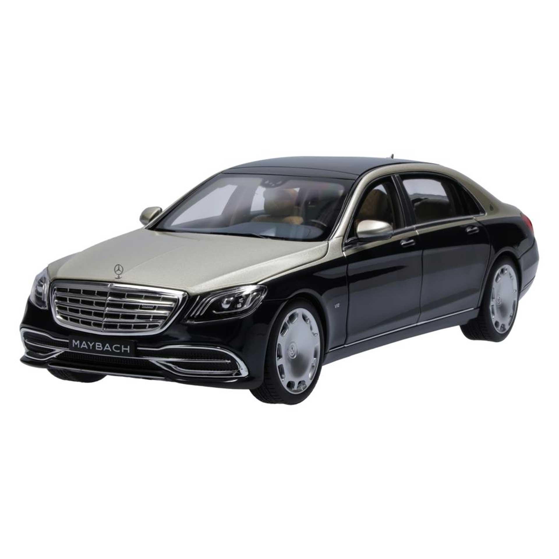 Mercedes-Maybach Modellauto S 650 X222 1:18 aragonitsilber anthrazitblau