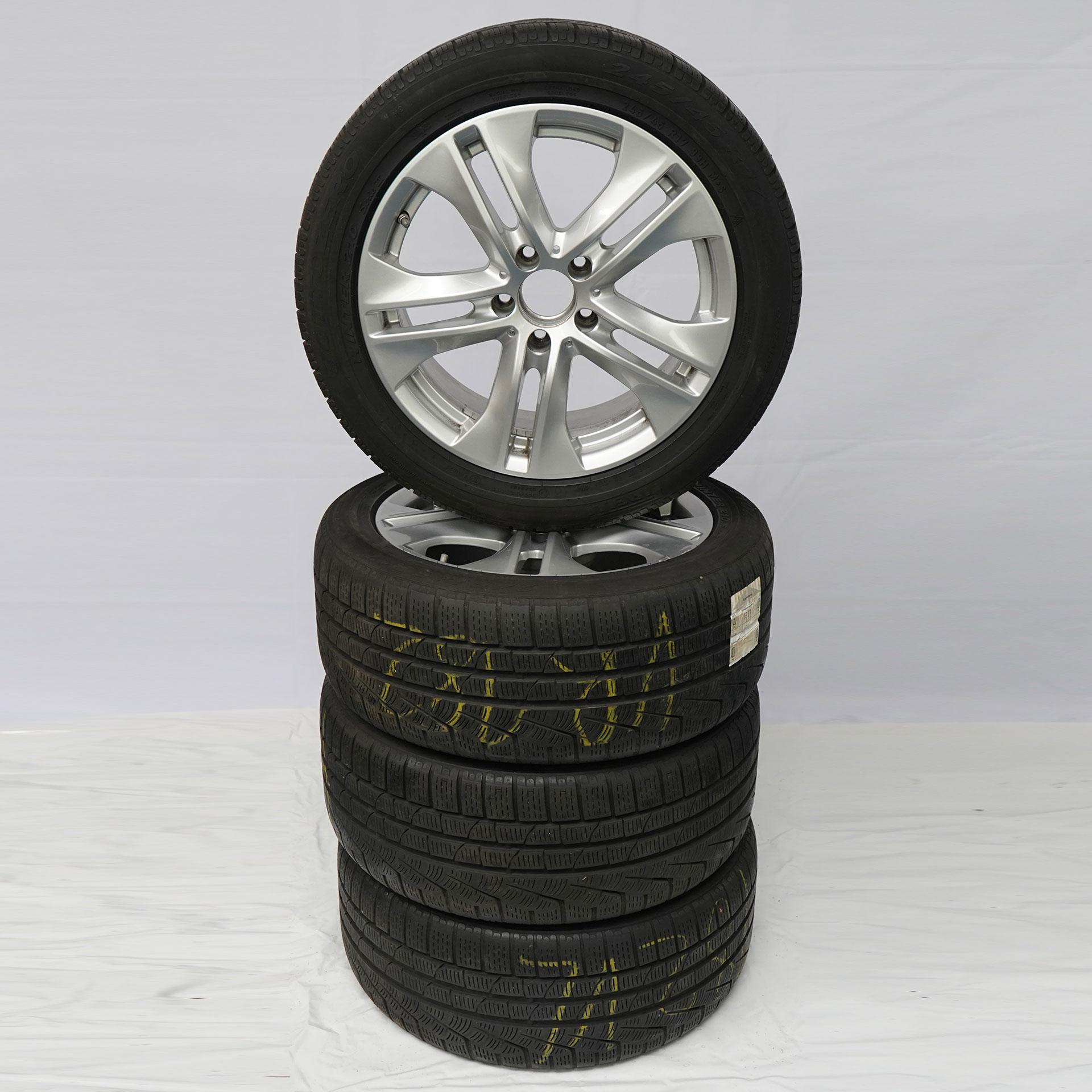E-Klasse (212) Gebrauchter 17 Zoll Original Mercedes-Benz Winterkomplettrad-Satz Pirelli