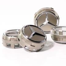 Mercedes-AMG Radnabenabdeckung Zentralverschlussdesign goldfarben Set 4-teilig