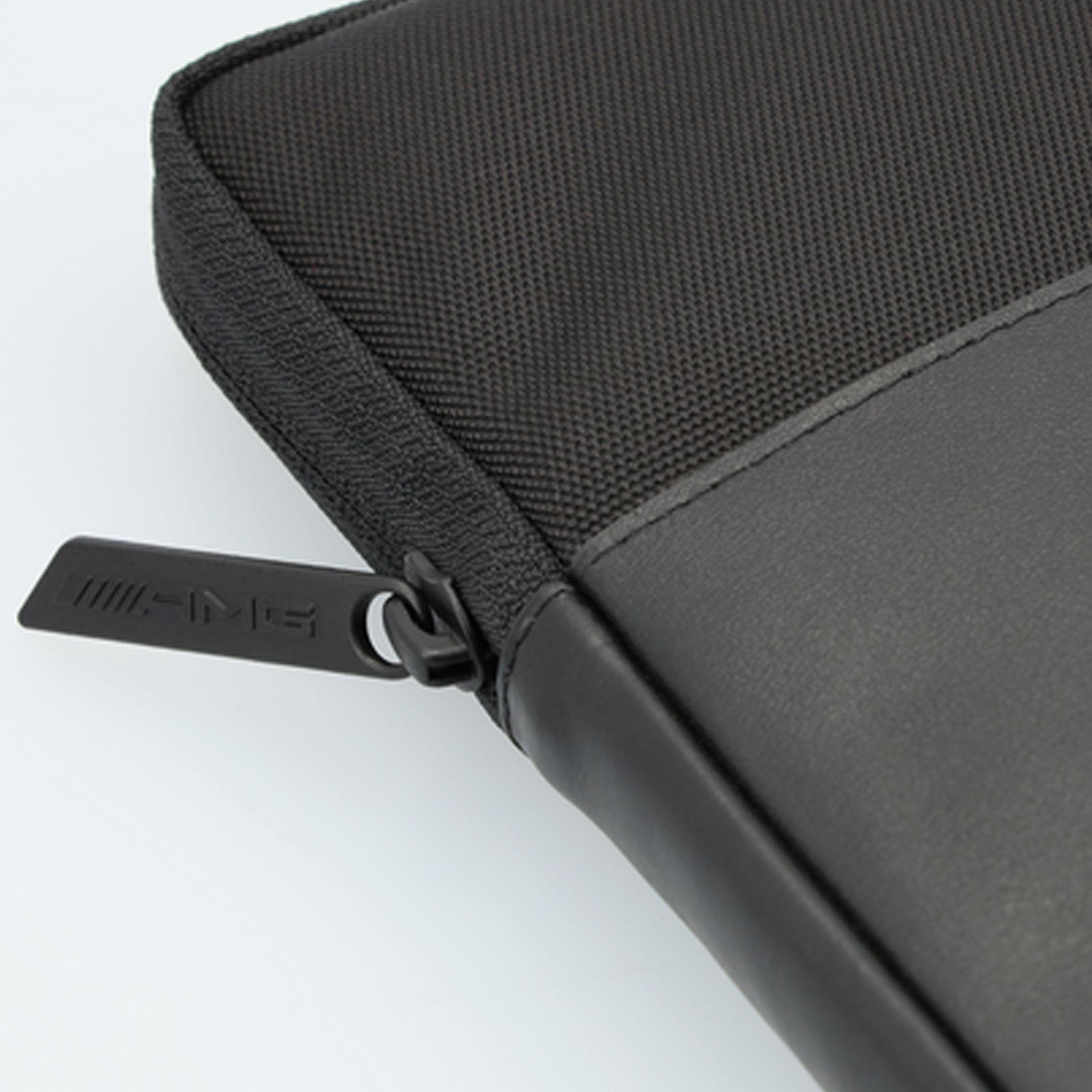 AMG Laptophülle schwarz Rindleder/Nylon bis 13 Zoll