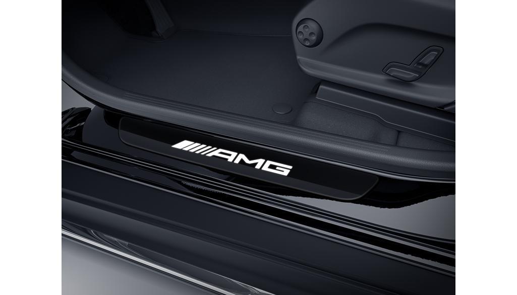 Mercedes-AMG Einstiegsleisten beleuchtet vorne Wechselcover einteilig