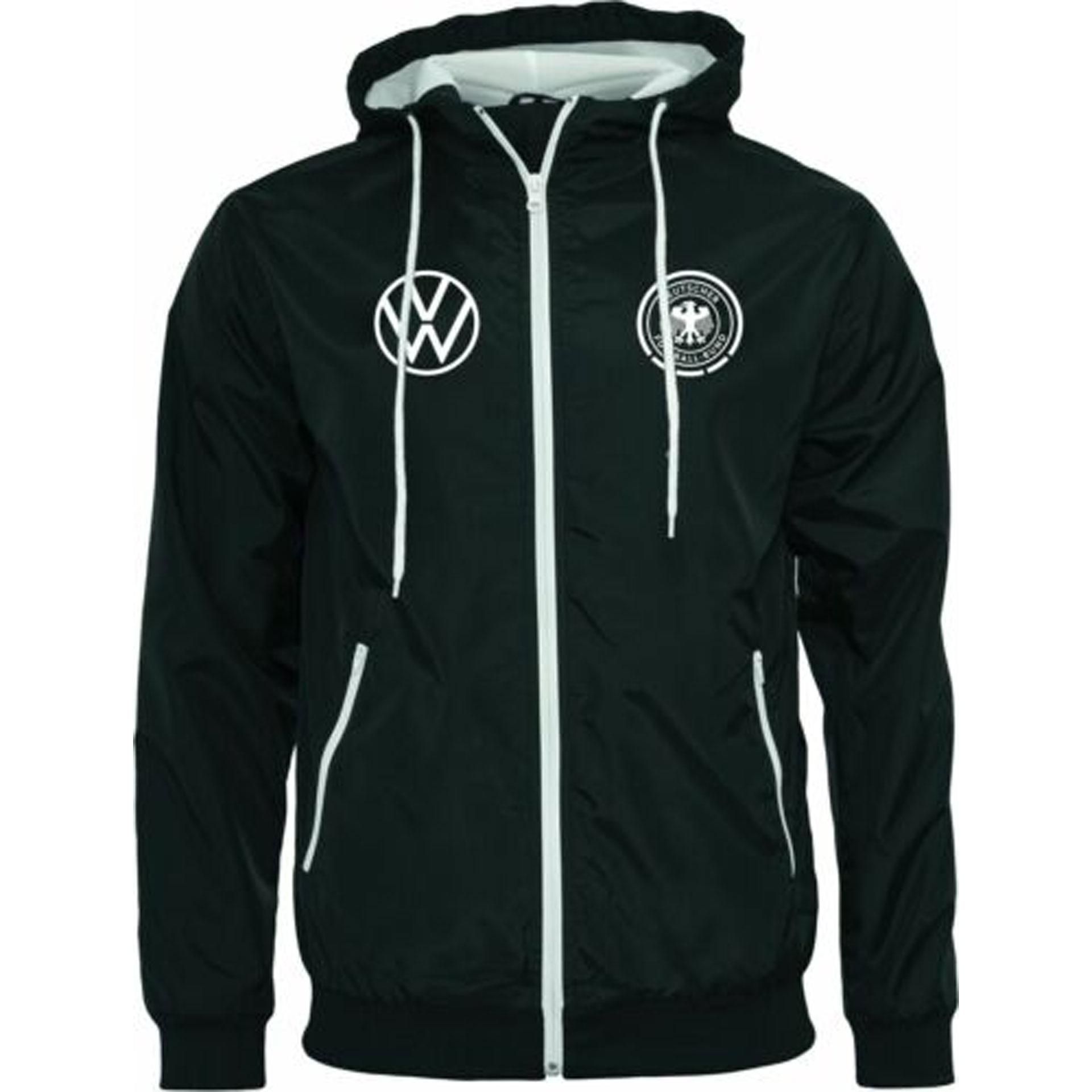 Original Volkswagen VW Deutschland DFB Trainingsjacke schwarz weiß