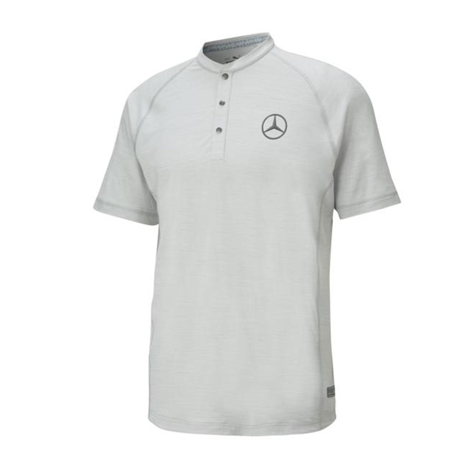 Mercedes-Benz Golf-Poloshirt Herren grau by PUMA Poloshirt