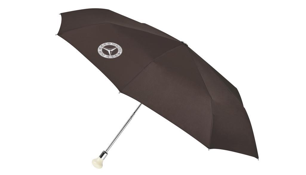Mercedes-Benz Taschenschirm Regenschirm 300 SL Schaltknauf braun
