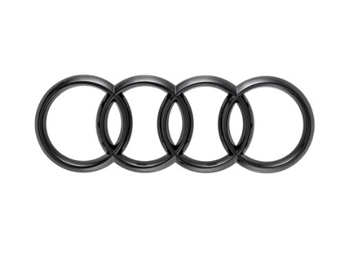 Audi Ringe in Schwarz für Front Kühlergrill