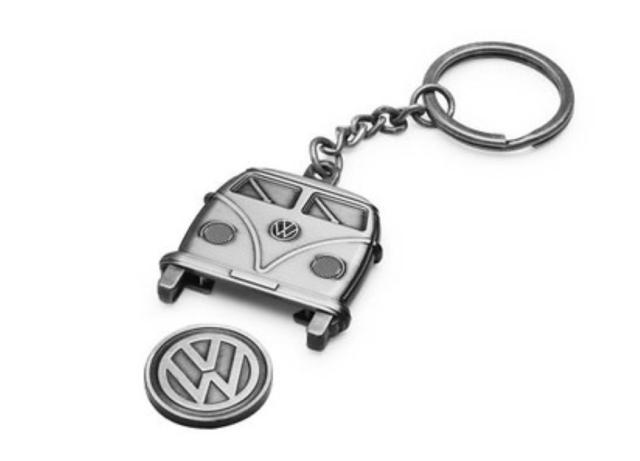 Volkswagen Schlüsselanhänger T1 mit Einkaufswagenchip