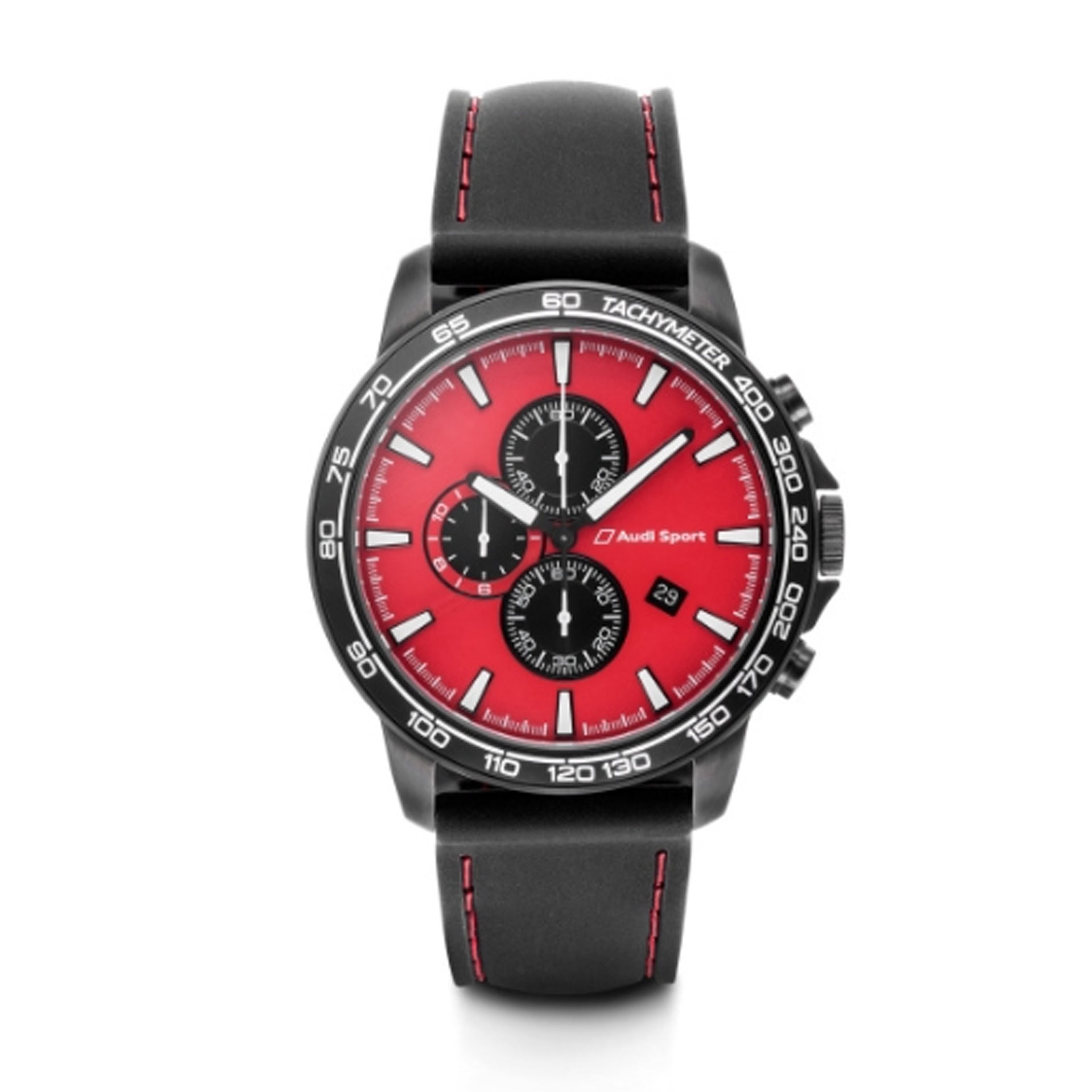 Audi Sport Chronograph Armbanduhr rot/schwarz Herren