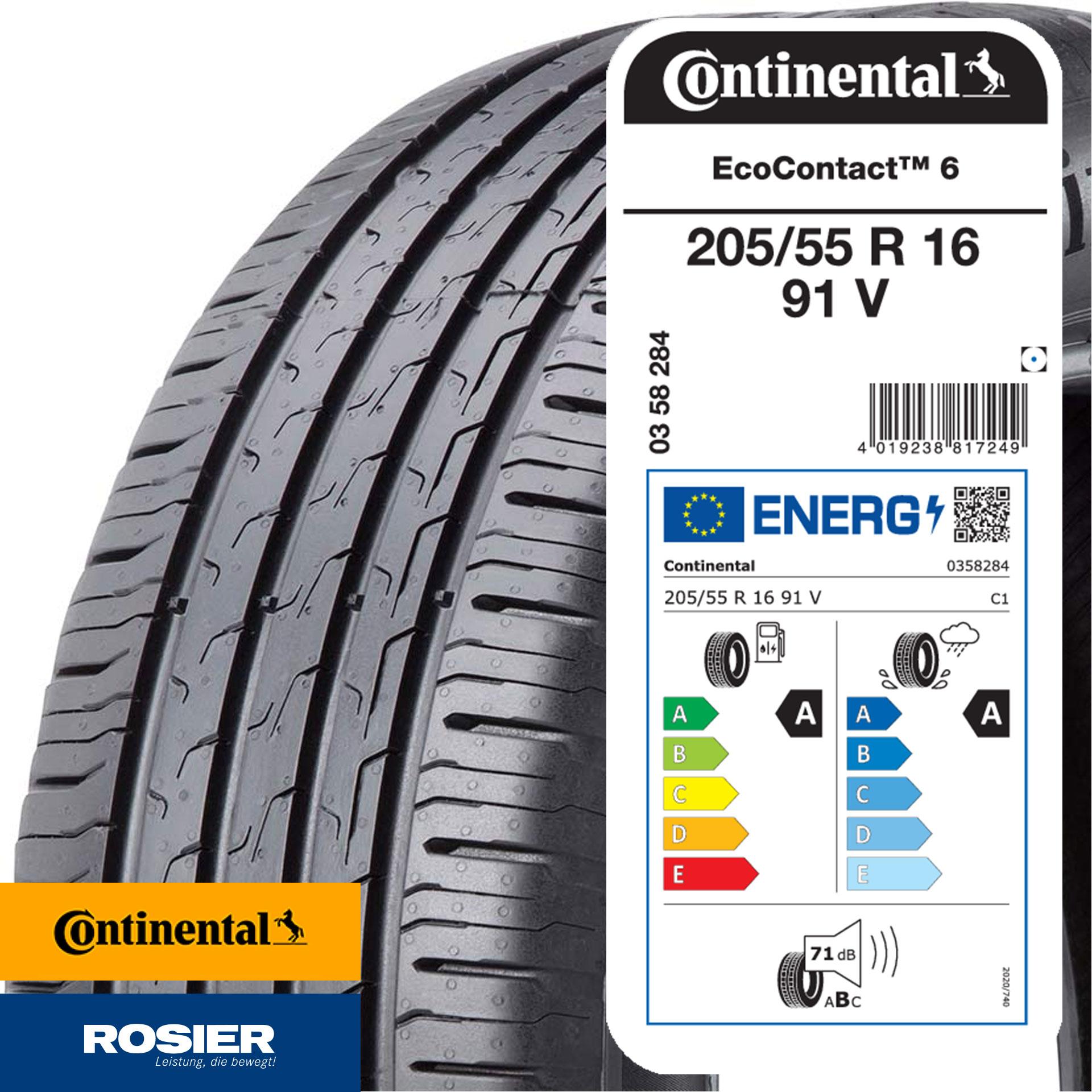 205/55 R16 91V Continental EcoContact 6