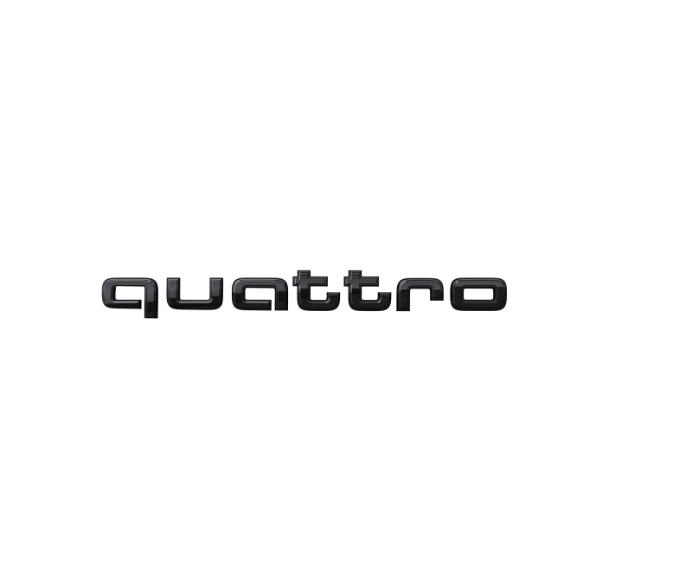 Audi Leistungs-/Technologie-Schriftzug in Schwarz Heck quattro