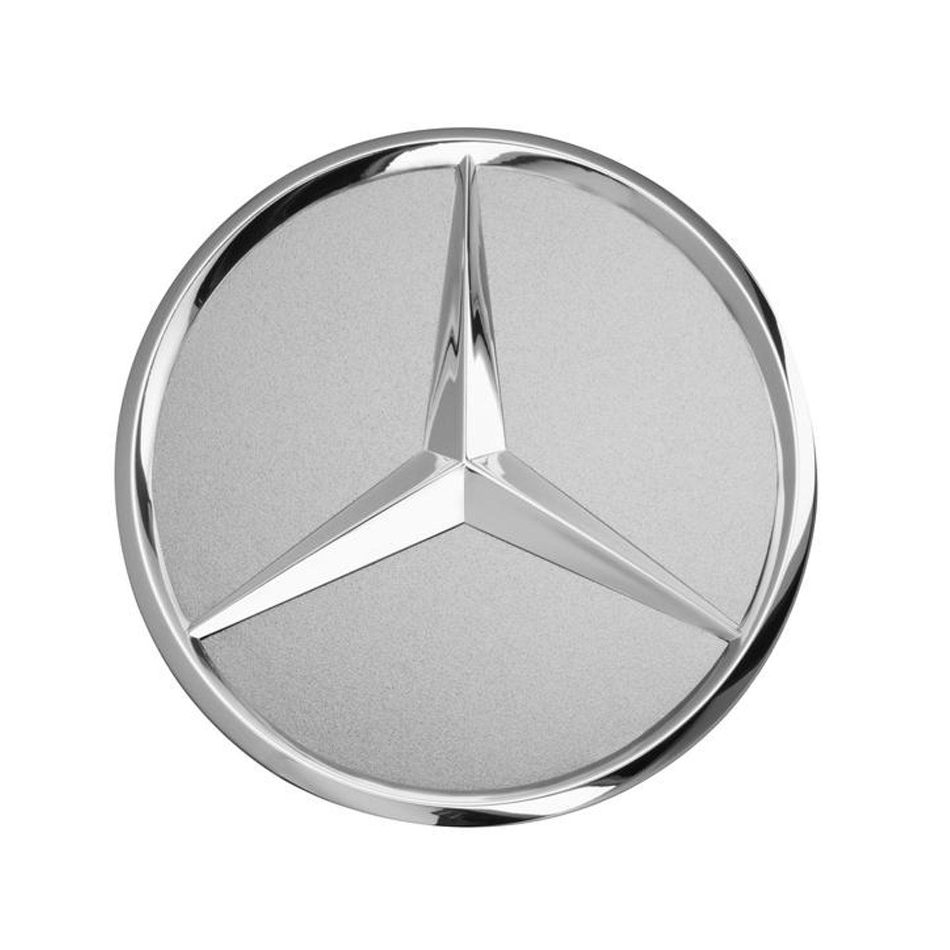 Mercedes-Benz Radnabenabdeckung Stern erhaben titansilber