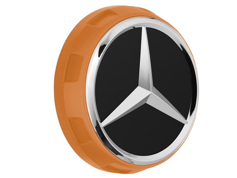 Mercedes-AMG Radnabenabdeckung Zentralverschlussdesign orange