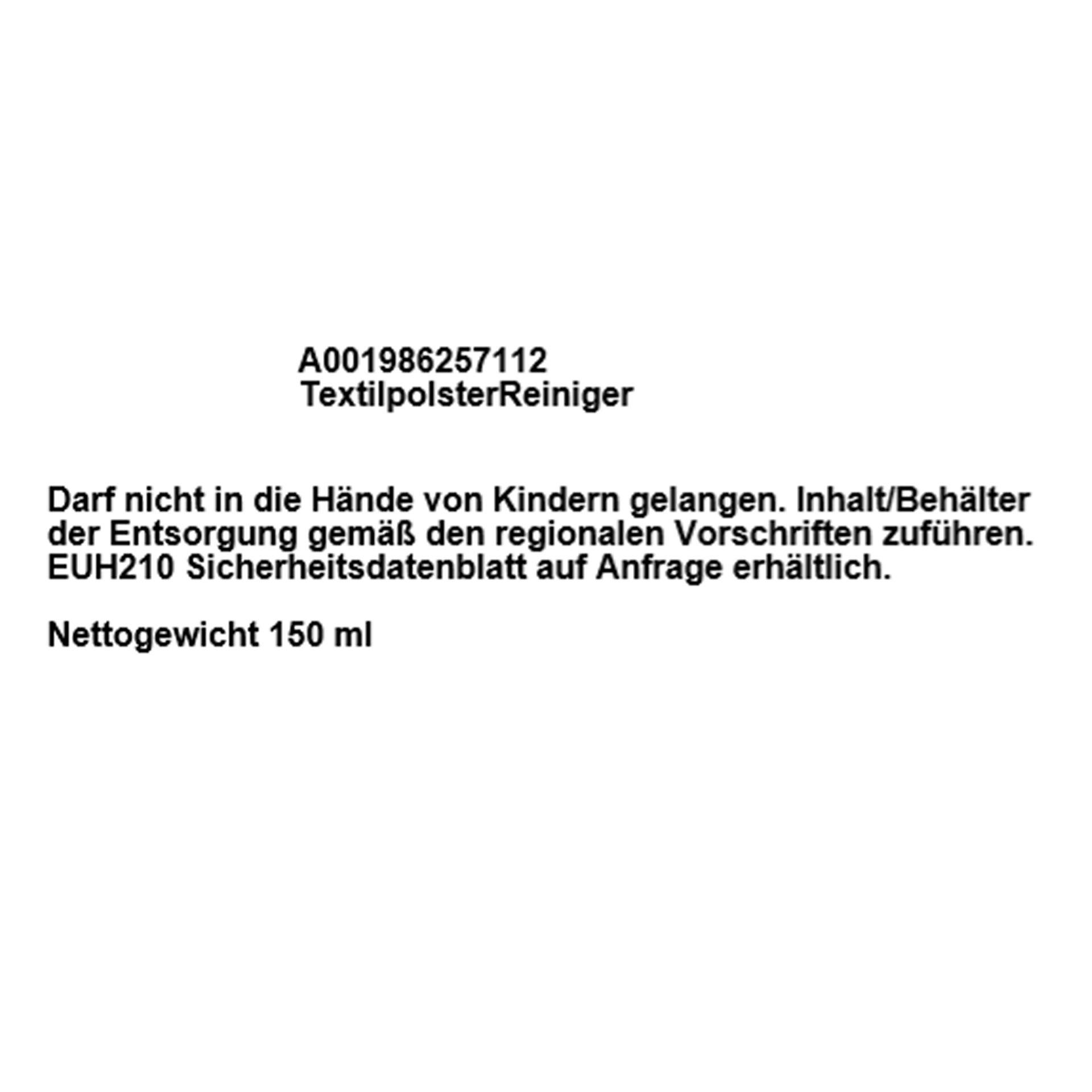 Mercedes-Benz Textil Polsterreiniger 150 ml