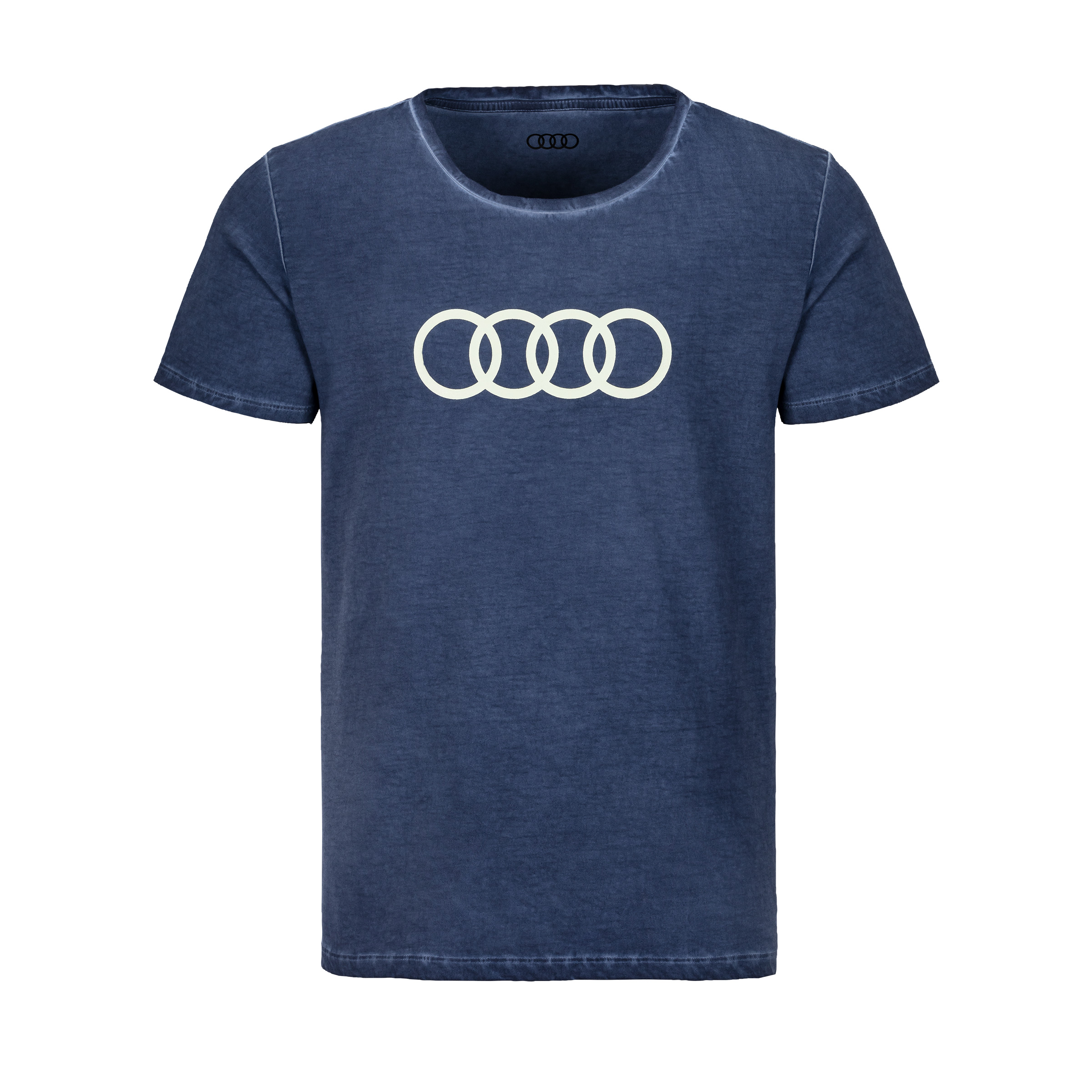 Audi T-Shirt Ringe Herren Größe 2XL blau