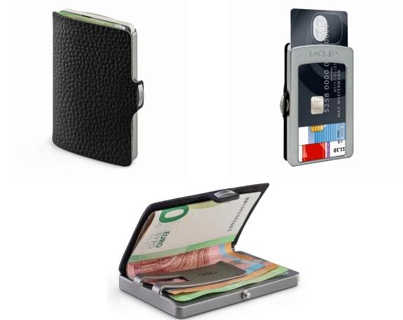 Audi I-CLIP the wallet schwarz/silber