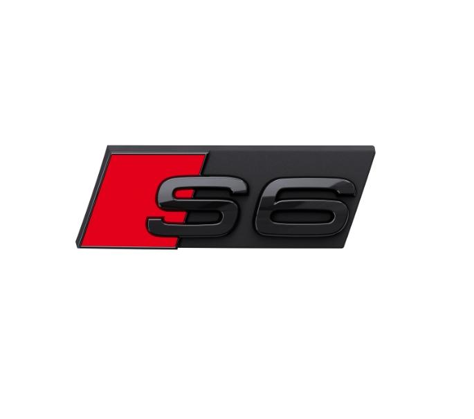 Audi Modellbezeichnung in Schwarz Front S6
