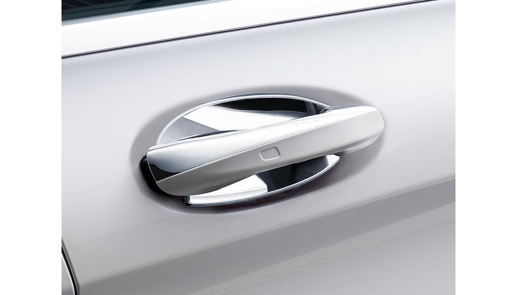 Mercedes-Benz Türgriffschalen, groß, 2-teilig, hochglanzverchromt
