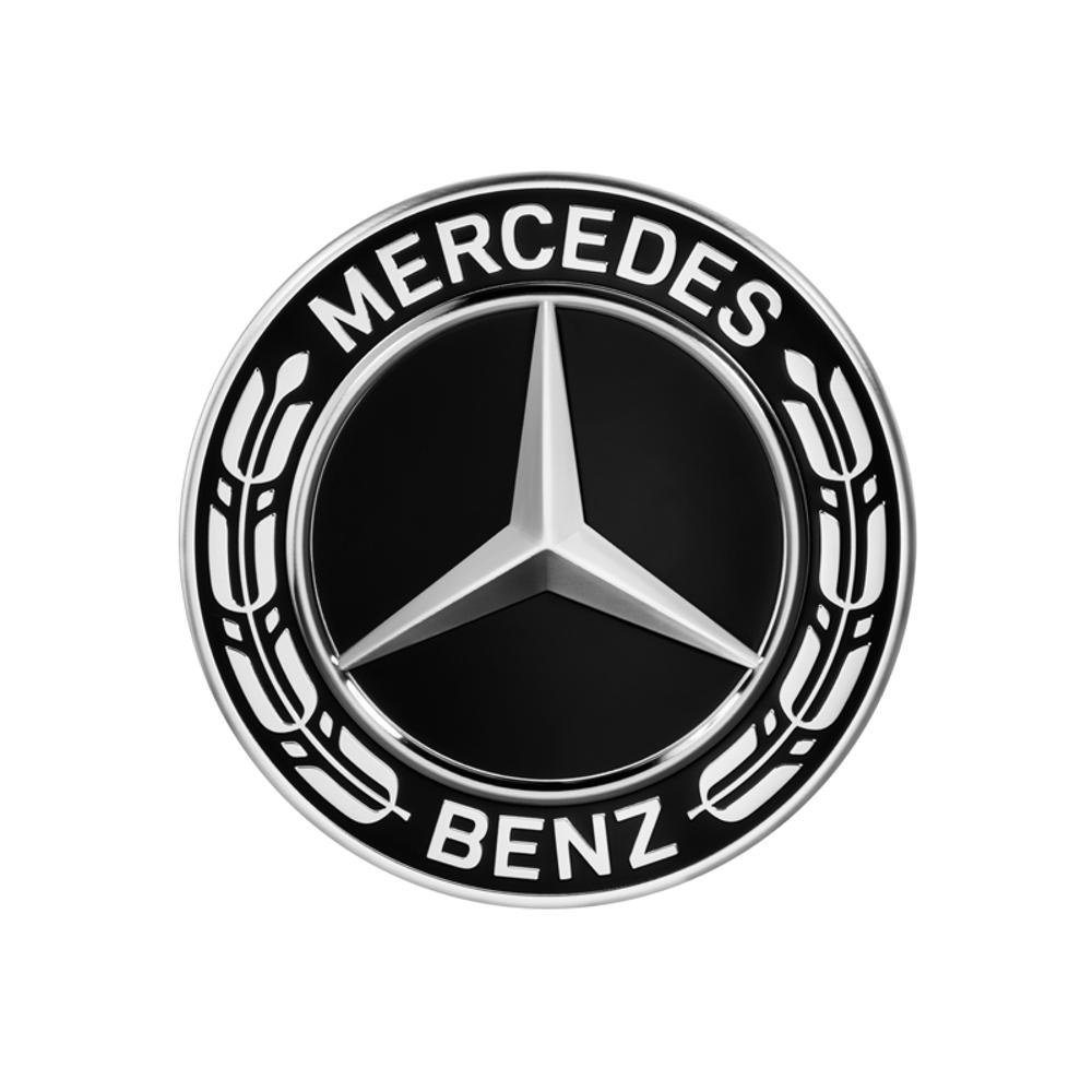 Mercedes-Benz Radnabenabdeckung Stern mit Lorbeerkranz schwarz