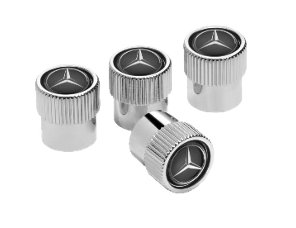 Mercedes-Benz Ventilzierkappe Set 4-teilig - Chrom
